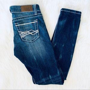 BKE Buckle Sabrina Acid Wash Skinny Jeans